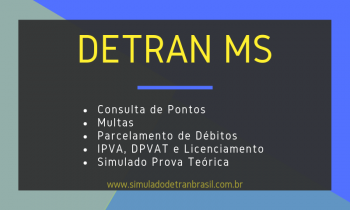Detran MS – Consulta de Pontos da CNH, Multas e IPVA