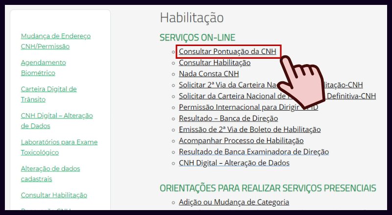 Consultar Pontos CNH Detran DF
